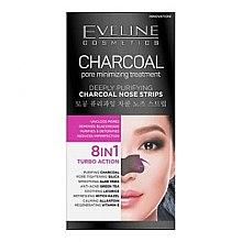 Parfémy, Parfumerie, kosmetika Hluboce čistící proužky na nos - Eveline Cosmetics Charcoal Nose Strips