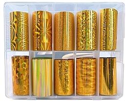 Parfémy, Parfumerie, kosmetika Sada transfer fólií - Deni Carte Gold Holo