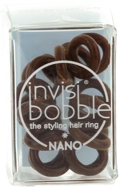 Gumička do vlasů - Invisibobble Nano Pretzel Brown — foto N2
