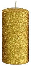 Parfémy, Parfumerie, kosmetika Dekorativní svíčka, zlatá, 7x14 cm - Artman Glamour