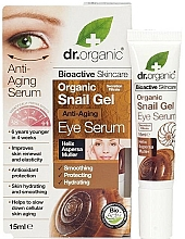 Parfémy, Parfumerie, kosmetika Anti-age sérum na oční okolí s mucínem hlemýžďů - Dr. Organic Bioactive Skincare Anti-Aging Snail Gel Eye Serum