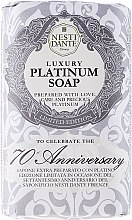 "Parfémy, Parfumerie, kosmetika Mýdlo ""Platina"" - Nesti Dante Luxury Platinum Soap 70th Anniversary"