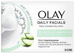 Parfémy, Parfumerie, kosmetika Suché ubrousky aktivované vodou pro citlivou pokožku - Olay Cleanse Daily Facials Cloths Sensitive