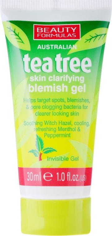 """Protizánětlivý gel na obličej """"Čajový strom"""" - Beauty Formulas Tea Tree Skin Clarifying Blemish Gel"""