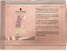 Parfémy, Parfumerie, kosmetika Čisticí detox-koncentrát na vlasy - Schwarzkopf Professional BlondMe Detoxifying System Shot