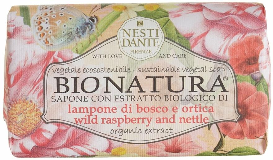 "Mýdlo ""Malina a kopřiva"" - Nesti Dante Bio Natura Bush Raspberry & Nettle Soap — foto N1"