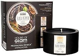 Parfémy, Parfumerie, kosmetika Aromatická svíčka - House of Glam Black Pepper&Coffee Candle
