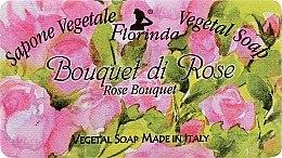 Parfémy, Parfumerie, kosmetika Přírodní mýdlo Růže - Florinda Sapone Vegetale Vegetal Soap Rose Bouquet