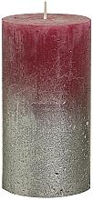 Parfémy, Parfumerie, kosmetika Válcová svíčka, burgundská, 130x68 mm - Bolsius Metallic Candle