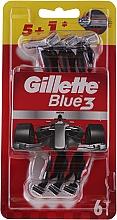 Parfémy, Parfumerie, kosmetika Sada jednorázových holicích strojků, 5 + 1ks - Gillette Blue III Red and White