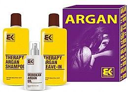 Parfémy, Parfumerie, kosmetika Sada - Brazil Keratin Therapy Argan (shm/300ml + cond/300ml + oil/100ml)