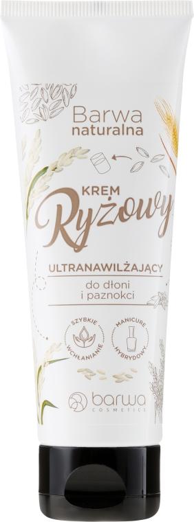 Rýžový krém na ruce a nehty - Barwa Natural Rice Hand Cream