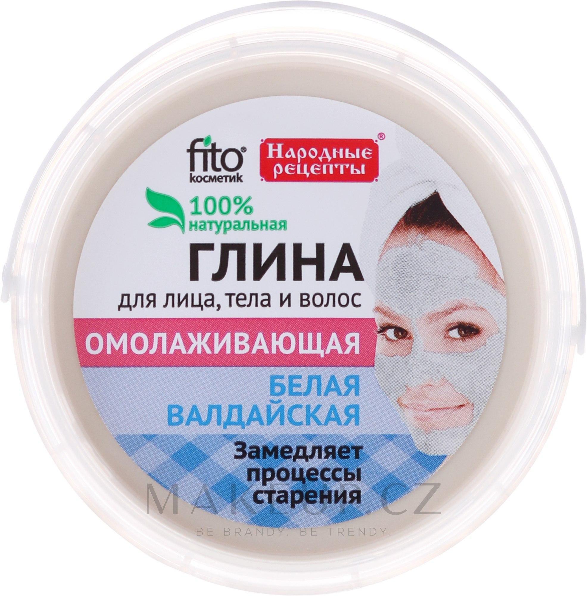 """Valdai bílá hlína na obličej, tělo a vlasy """"Omlazující"""" - Fito Kosmetik  — foto 155 ml"""