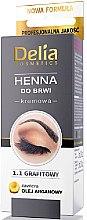 Parfémy, Parfumerie, kosmetika Krémová barva na obočí v prášku, grafitová - Delia Brow Dye Graphite Henna Cream