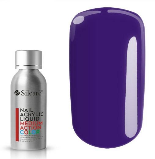 Akryl na nehty - Silcare Nail Acrylic Liquid Medium Action Color