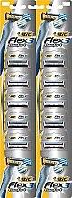 """Parfémy, Parfumerie, kosmetika Holicí strojky """"Flex 03"""" - Bic Flex 3 Nano-Tech Vitamin E & Aloe"""
