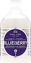 Parfémy, Parfumerie, kosmetika Oživující šampon na vlasy s extraktem borůvek - Kallos Cosmetics Blueberry Hair Shampoo