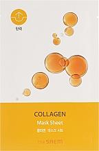 Parfémy, Parfumerie, kosmetika Plátýnková pleťová bio maska - The Saem Bio Solution Firming Collagen Mask Sheet