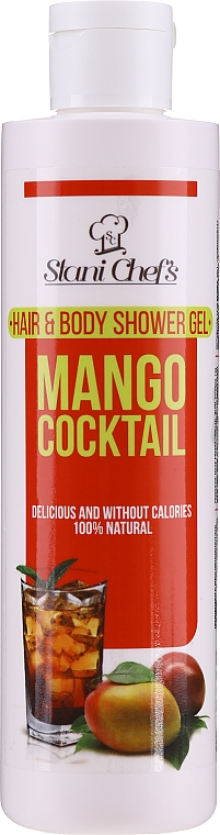 Gel na vlasy a tělo Mangový koktejl - Hristina Stani Chef's Mango Cocktail Hair and Body Shower Gel