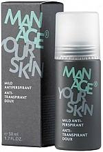 Parfémy, Parfumerie, kosmetika Pánský antiperspirant - Dr. Spiller Manage Your Skin Mild Antiperspirant