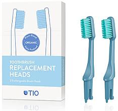 Parfémy, Parfumerie, kosmetika Náhradní hlavice na zubní kartáček, jemná štětina, modré - TIO Toothbrush Medium