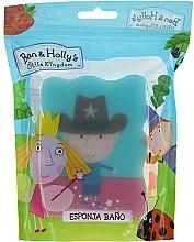 """Parfémy, Parfumerie, kosmetika Koupelová houba dětská """"Ben a Holly"""", Ben, šerif, modrá - Suavipiel Ben & Holly Bath Sponge"""