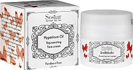 Parfémy, Parfumerie, kosmetika Hydratační krém na obličej s olejem třezalky - Sostar Natural Rejuvenating Moisturizer Face Cream with Hypericum Oil
