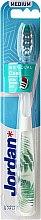 Parfémy, Parfumerie, kosmetika Zubní kartáček středně tvrdá Individual Clean, bílá, kapradí - Jordan Individual Clean Medium