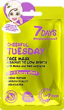 Parfémy, Parfumerie, kosmetika Pleťová maska proti špatné náladě Veselé úterý - 7 Days Cheerful Tuesday