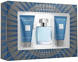 Parfémy, Parfumerie, kosmetika Sada - Azzaro Chrome (edt/30ml + shm/50ml + balm/50ml)
