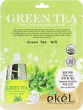 Parfémy, Parfumerie, kosmetika Pleťová látková maska s extraktem ze zeleného čaje - Ekel Green Tea Ultra Hydrating Essence Mask