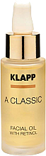 Parfémy, Parfumerie, kosmetika Pleťový olej s retinolem - Klapp A Classic Facial Oil With Retinol