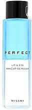 Parfémy, Parfumerie, kosmetika Odličovač - Missha Perfect Lip & Eye Make-Up Remover