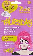 Parfémy, Parfumerie, kosmetika Hydrogelové náplasti pod oči s panthenolem a borůvkovým extraktem Aktivní čtvrtek - 7 Days Hydrogel Eye Patches