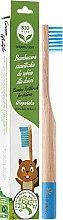 Parfémy, Parfumerie, kosmetika Bambusový zubní kartáček pro děti měkký, modrý - Biomika Natural Bamboo Toothbrush
