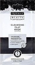 Parfémy, Parfumerie, kosmetika Čisticí maska na obličej s aktivním uhlím, probiotiky a sérem - Freeman Beauty Infusion Cleansing Clay Mask Charcoal & Probiotics (mini)