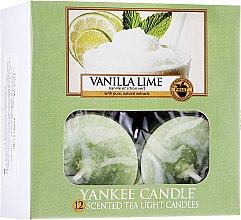 Parfémy, Parfumerie, kosmetika Čajové svíčky - Yankee Candle Scented Tea Light Candles Vanilla Lime