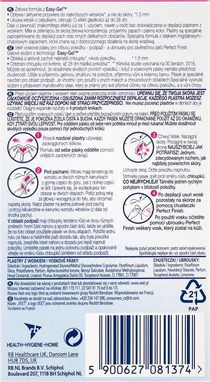 Voskové depilační proužky na tělo s vůní modré chrpy - Veet Easy-Gel — foto N4