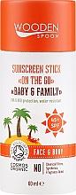 Parfémy, Parfumerie, kosmetika Opalovací stick - Wooden Spoon Sunscreen Stick On The Go SPF 45