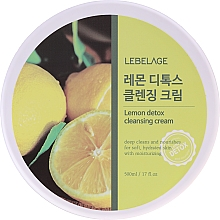 Parfémy, Parfumerie, kosmetika Čisticí krém s extraktem z citronu - Lebelage Lemon Detox Cleansing Cream