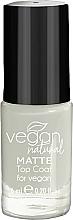 Parfémy, Parfumerie, kosmetika Matný vrchní lak - Vegan Natural Matte Top Coat
