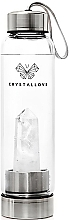 Parfémy, Parfumerie, kosmetika Láhev na vodu s krystaly bílého křemene, 500 ml - Crystallove