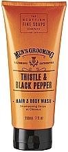 Parfémy, Parfumerie, kosmetika Sprchový gel a šampon 2v1 - Scottish Fine Soaps Men's Thistle & Black Pepper Hair Body Wash