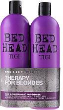 Parfémy, Parfumerie, kosmetika Sada - Tigi Bed Head Dumb Blonde (shm/750ml + cond/750ml)