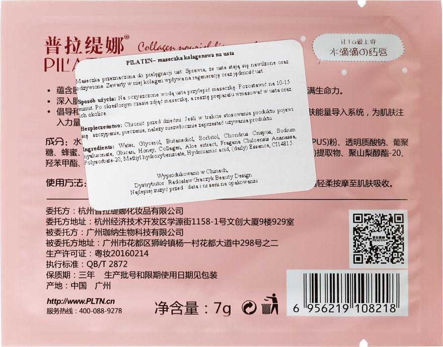 Kolagenová maska na rty - Pilaten Collagen Lip Mask  — foto N2