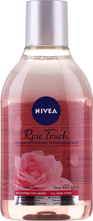 Růžová micelární voda - Nivea MicellAIR Skin Breathe Micellar Rose Water With Oil