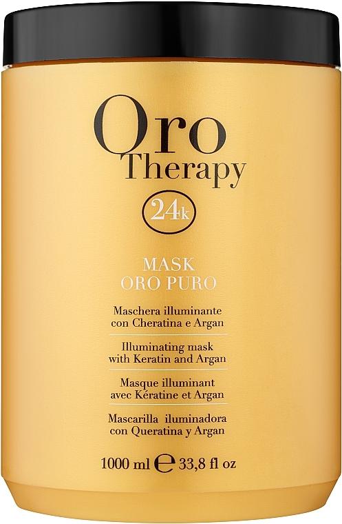 Revitalizační maska na vlasy s aktivními mikročásticemi zlata - Fanola Oro Therapy Oro Puro Mask