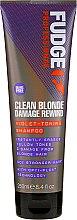 Parfémy, Parfumerie, kosmetika Tónovací šampon na vlasy - Fudge Clean Blonde Damage Rewind Shampoo