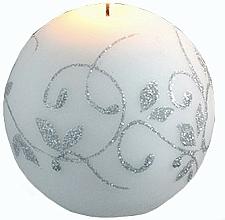 Parfémy, Parfumerie, kosmetika Dekorativní svíčka, koule, bílá, 8 cm - Artman Amelia