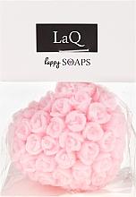 """Parfémy, Parfumerie, kosmetika Ručně vyráběné přírodní mýdlo """"Srdce s růžemi"""" s třešňovou vůní - LaQ Happy Soaps Natural Soap"""